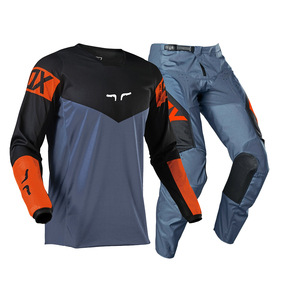 Hot Sale!Delicate Fox 2021 MX/ATV Racing 180 Revn Jersey & Pant Combo Black UTV ATV MX Motocross Dirtbike Gear Set
