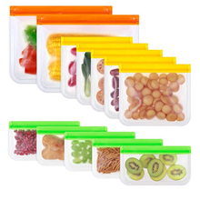 Containers-Bags Food-Storage Fresh-Wrap Stand-Up Silicone Reusable PEVA Zip