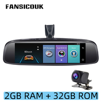 FANSICOUK 4G Android 5.1 Car DVR Camera ADAS 1080P 2GB RAM Dash Cam 8'' Rearview Mirror GPS WIFI Night Vision Auto Registrar E2