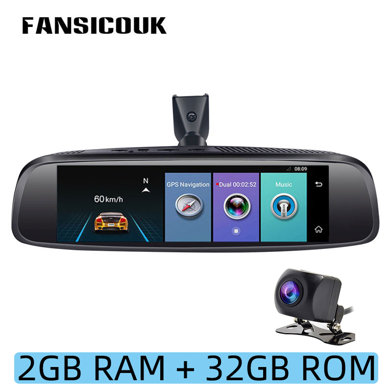 FANSICOUK <font><b>4G</b></font> Android 5.1 Car DVR Camera ADAS 1080P 2GB RAM <font><b>Dash</b></font> <font><b>Cam</b></font> 8'' Rearview <font><b>Mirror</b></font> GPS WIFI Night Vision Auto Registrar E2 image