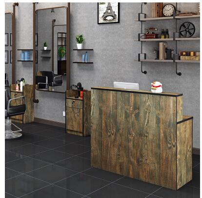 Hair Salon Bar Table Retro Cash Register Small Barber Shop Front Desk Clothing Shop Cashier Counter Restaurant