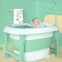 Banheira do bebê dobrável banheira de banho dobrável banheira de bebê recém-nascido balde de natação casa grande criança bolha tambor de banho do bebê banheira