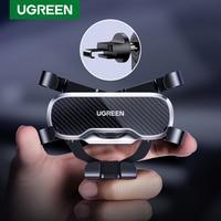 Ugreen-Soporte de teléfono móvil para coche, con gancho de gravedad, para ventilación de aire, para iPhone 12, Xiaomi 10