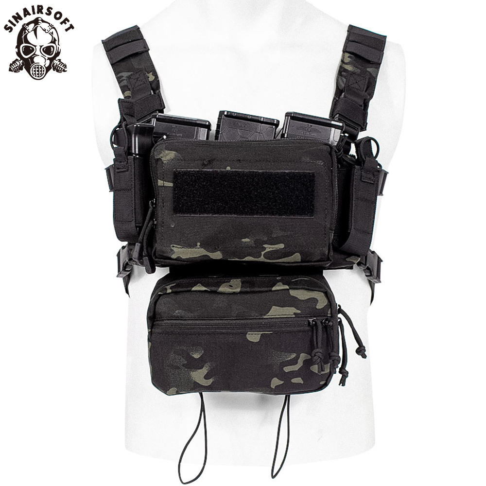 Military Airsoft Tactical Vests Army Vest Combat Assault Plate Carrier Chest Rig Bag CS Outdoor Clothing Hunting Vest Multicam