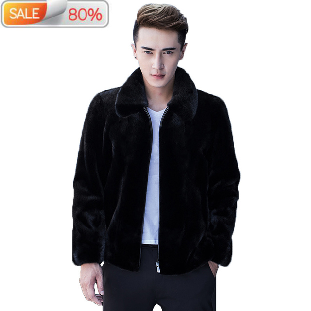 Short Real Mink Coat Men Autumn Winter Jacket New Arrival Mens Fur Coats and Jackets Veste Homme Hiver 1A99 B21129