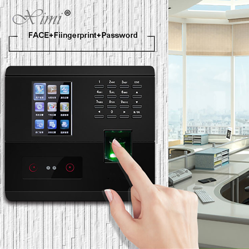 ZK UF200 TCP/IP USB Face Recognition Time Attendance System With Fingerprint Reader Facial Time Clock