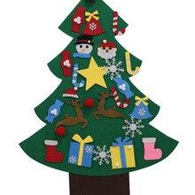 Войлок детские игрушки Рождественская елка DIY рождественские подарки на Рождество настенные украшения