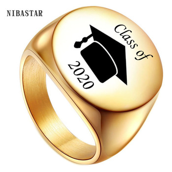 Personality Graduation Anniversary Men Rings For Gift Stainless Steel Customize Stainless steel Jewelry Ring Wholesale wholesale 20 pieces mix stainless steel ring jewelry dragon heart statement wedding rings for women men gift