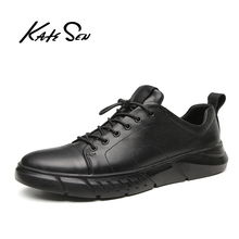 Buy KATESEN men shoes Men causal shoes large size new leather man loafers sneakers British dress shoes lace-up male leisure shoes directly from merchant!