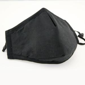 Image 3 - Reuseable Black Face Masks Black Mask for Mouth Cotton Respirator Face Mask Confortable Breathable Masker fast Shipping