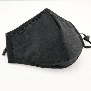 Image 3 - Reuseable שחור פנים מסכות מסכה שחורה עבור פה כותנה הנשמה מסיכת הפנים Confortable לנשימה Masker מהיר חינם