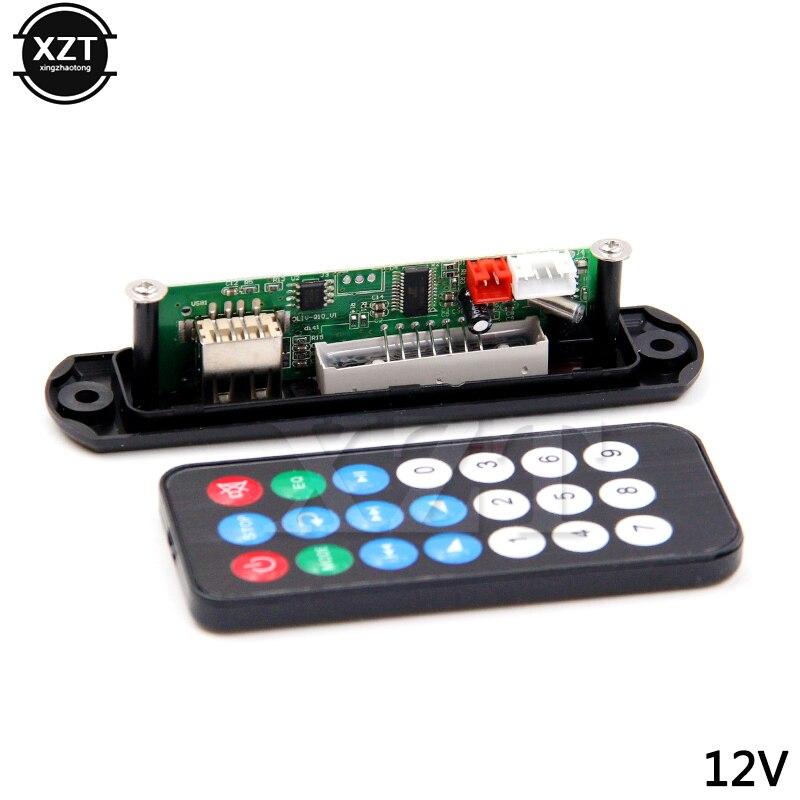 5 в 12 В MP3 WMA декодер доска MP3 плеер Автомобильный аудио USB TF FM радио модуль дистанционное управление для автомобиля аксессуары