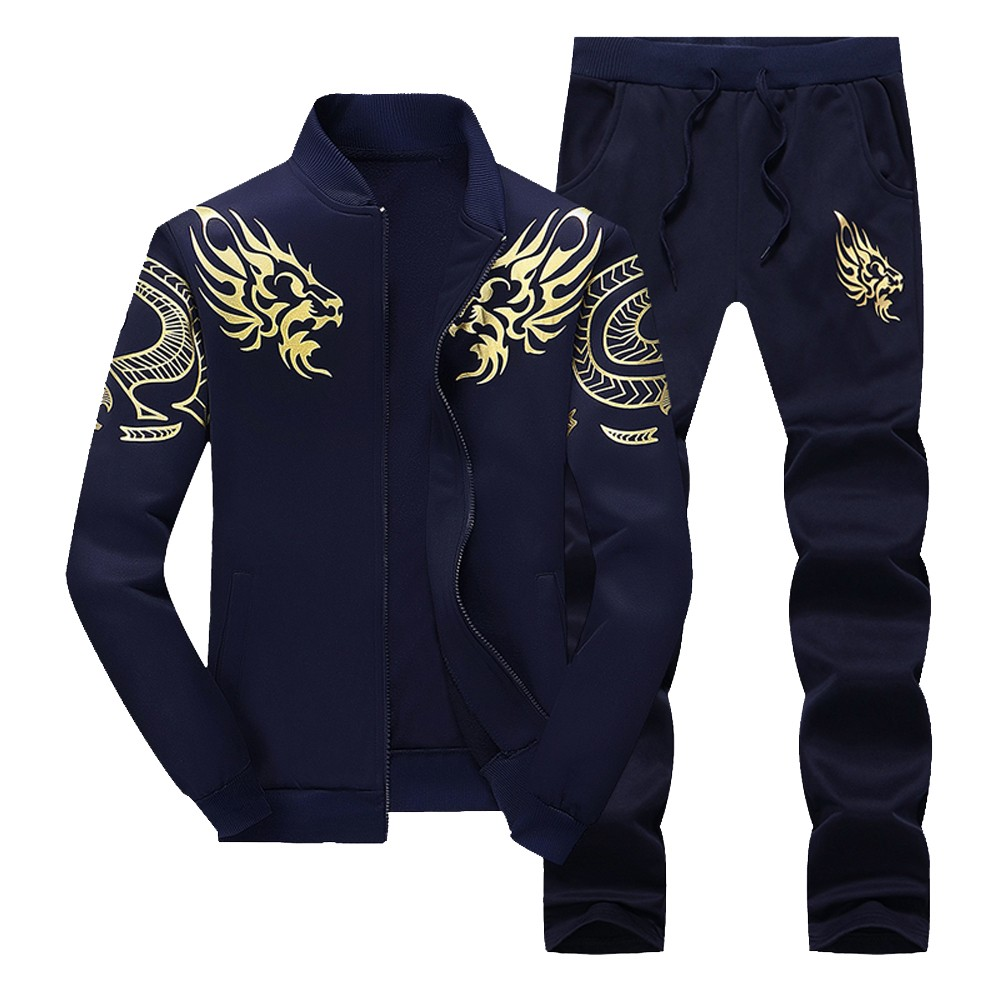 Fashion Sweatshirt Men's Autumn Winter Thicken Pants Sets Sports Suit Tracksuit Hot Sale Quality 2018 New Male Clothing BB50T