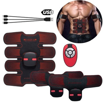 ABS Stimulator Muscle Toner Wireless Remote Control Abdominal Toning Belt EMS Acupuncture Tens Physiotherapy Slimming Massager xft 320a electrical stimulator tens healthcare physiotherapy pains relax smoothing electrical massager physiotherapy knee pads
