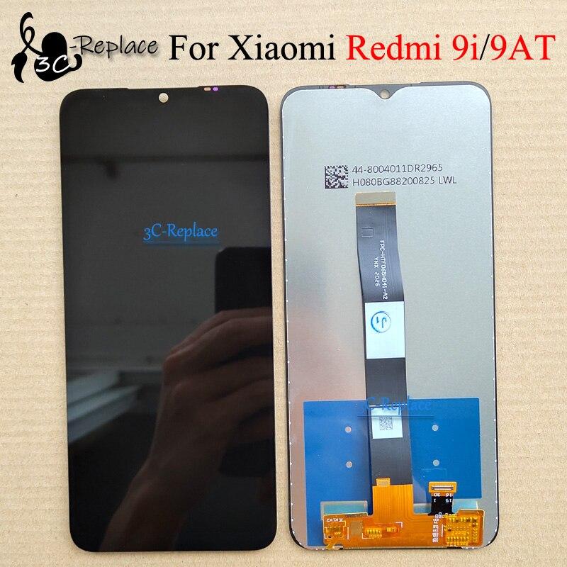 ЖК-дисплей 6,53 дюйма для Xiaomi Redmi 9i M2006C3LII / Redmi 9AT Global M2006C3LVG, сенсорный экран с цифровым преобразователем в сборке, черный, оригинал