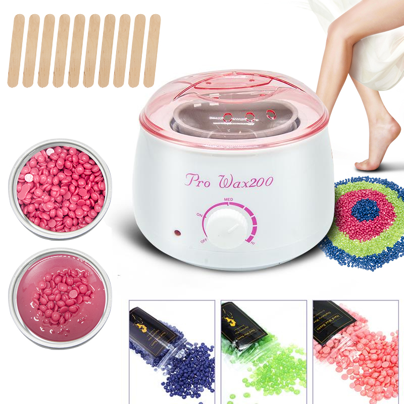 2020 Pro Electric Hot Wax Heaters SPA Waxing Machine For Hand Feet Body Hair Removal Epilator Paraffin Depilador Wax pot kit