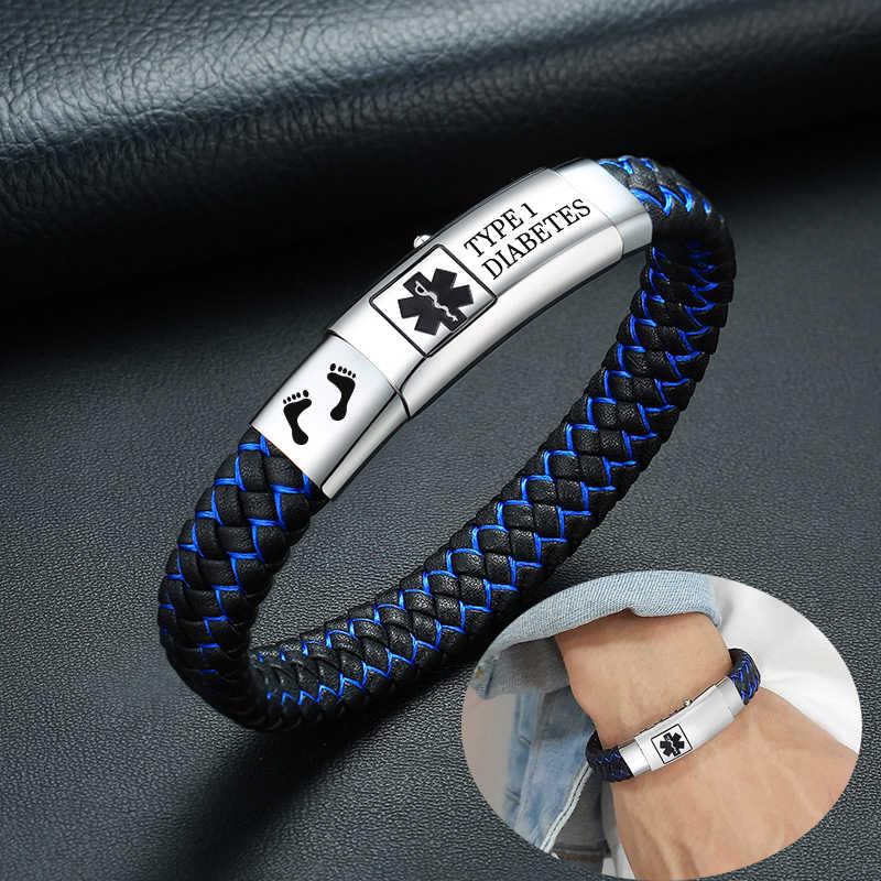 Waterproof Silicone Band MALE  Free Engraved Medical Alert ID Bracelet Bangle