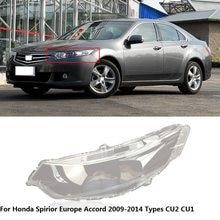 CAPQX dla Honda Spirior Europe Accord CU2 CU1 2009-2014 przedni reflektor reflektor klosz lampy klosz do lampy Shell Cover