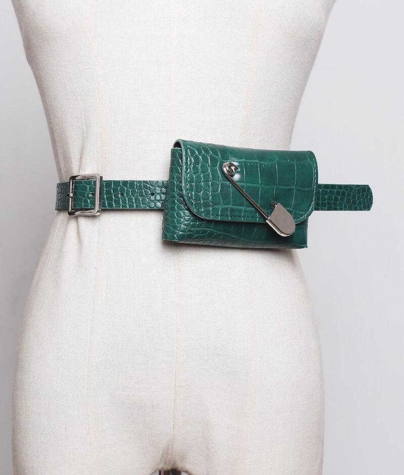 Caker Brand 2019 Women Alligator PU Leather Waist Bags