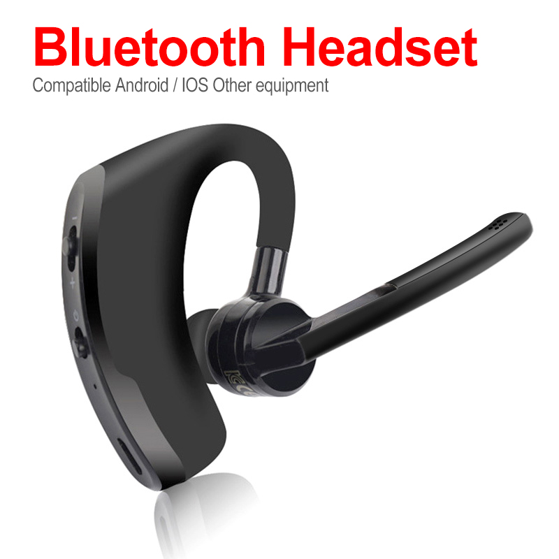 V8 Blutooth <font><b>Earphone</b></font> Wireless Stereo HD Mic Headphones <font><b>Bluetooth</b></font> Hands In Car Kit With Mic For <font><b>V9</b></font> iPhone Samsung Huawei Phone image