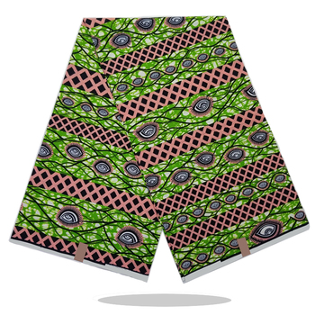 African Style Wax Block Printed Cotton Fabric Real High Quality Soft Dutch Wax Prints Fabric 6Yards/Pcs For Womend Dress VL15-94