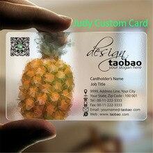 Personalizzato 200pcs/un disegno 85.5*54 millimetri Commercio Allingrosso Stampa Personalizzata Da Visita Di Plastica Trasparente IN PVC Carte di IDENTITÀ