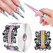 Gel acrílico de doble forma para uñas, herramienta de manicura con forma de flor, extensión de puntas UV, 10 Uds./100 Uds.