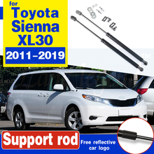 For TOYOTA Sienna XL30 2011-2019 Front Hood Bonnet Gas Struts Shock Damper Lift Supports Car-Styling Absorber Hood Struts front hood bonnet gas struts lift support shock damper for mitsubishi lancer ex io type fortis for proton inspira 10 14 absorber