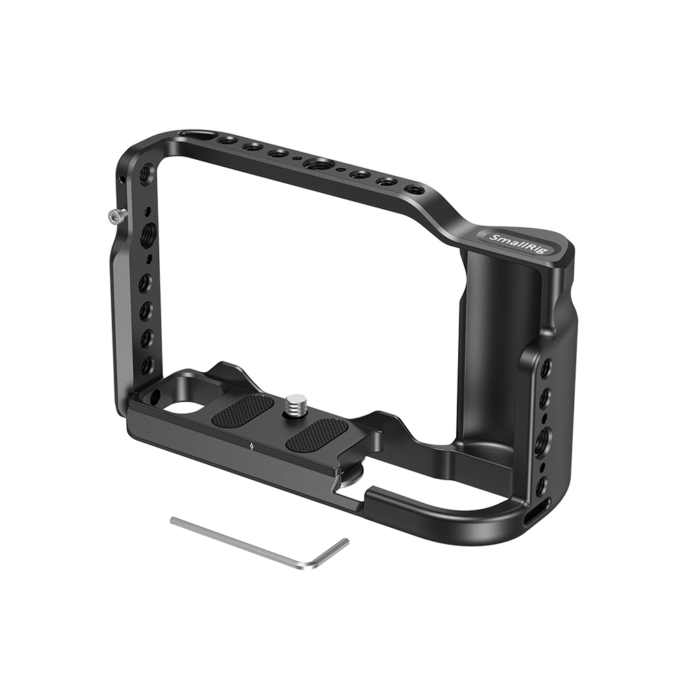 aluminum alloy SmallRig G9 Aluminum Alloy Cage for Panasonic G9 Cage With Arca Swiss Plate/Integreted Side Handgrip/NATO Rail-2411 (4)