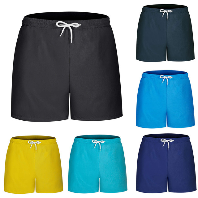 Mens Beach Shorts And Women Quick Dry For Running Shorts Men Fitness Sport Shorts Male Solid Color Training Sports Short Pants 1