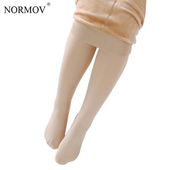 NORMOV XS-3XL Winter Plus Cashmere Pantyhose Woman Casual Warm Big Size Faux Velvet Knitted Thick Slim Super Elastic Sexy Tights 11