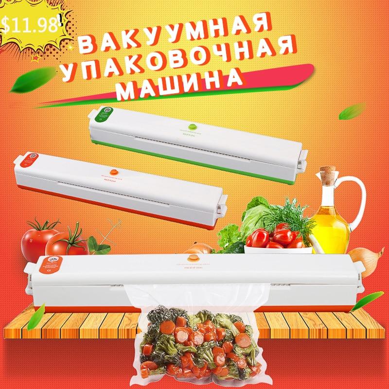 Food Vacuum Sealer Packaging Machine With 10pcs Bags  Household Food Vacuum Sealer Packaging Machine Film Sealer Vacuum