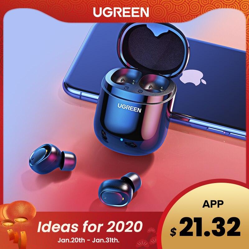 Ugreen Bluetooth Kopfhörer 5,0 TWS Wahre Drahtlose Ohrhörer Stereo Kopfhörer Freisprecheinrichtung in Ohr Telefon Gaming Sport Headset