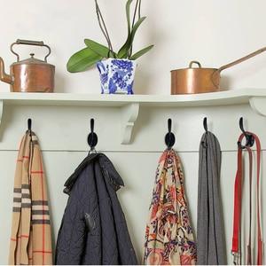 Image 3 - KAK Zinc aleación Vintage bronce gancho perchas gancho de pared para abrigo bolsa sombrero ganchos para baño o cocina Anitque bastidores con tornillos