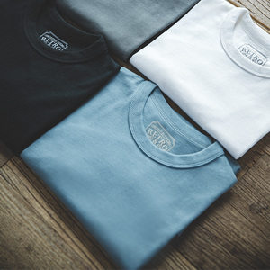 Image 2 - MADEN קיץ מוצק כותנה חולצות גברים נשים Unisx גדול T חולצות קצר שרוול במשקל כבד Harajuku לבן קצר שרוולים