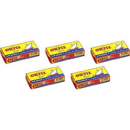 Filets D'anchois à L'huile D'olive 47g Ortiz (5 Unités)