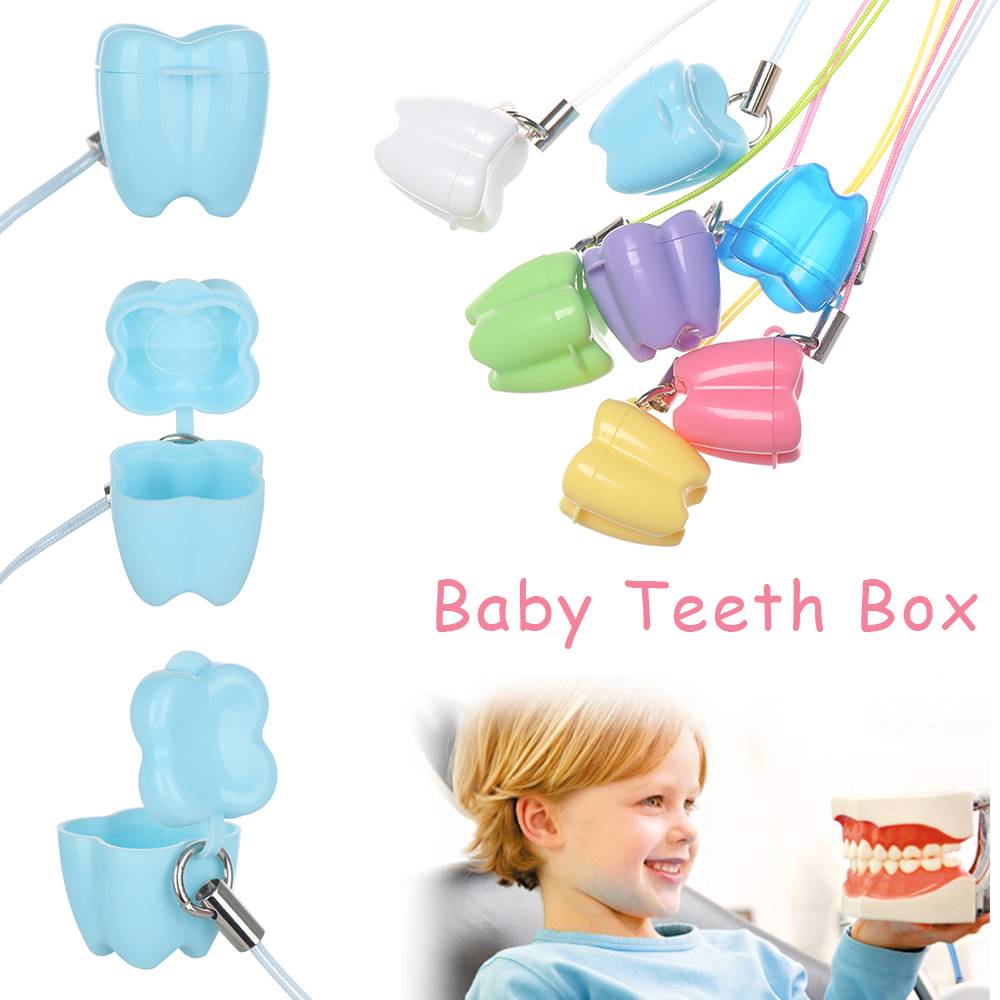 10Pcs New Colorful Baby Teeth Milk Teeth Box Cute Multicolor False Tooth Case Children's Denture Accessories Dental Clinic Gift(China)