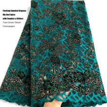 Net-Fabric Lace-Mix Inspired-Wear Sequins Occasions African-Flocking French Handcut Organza