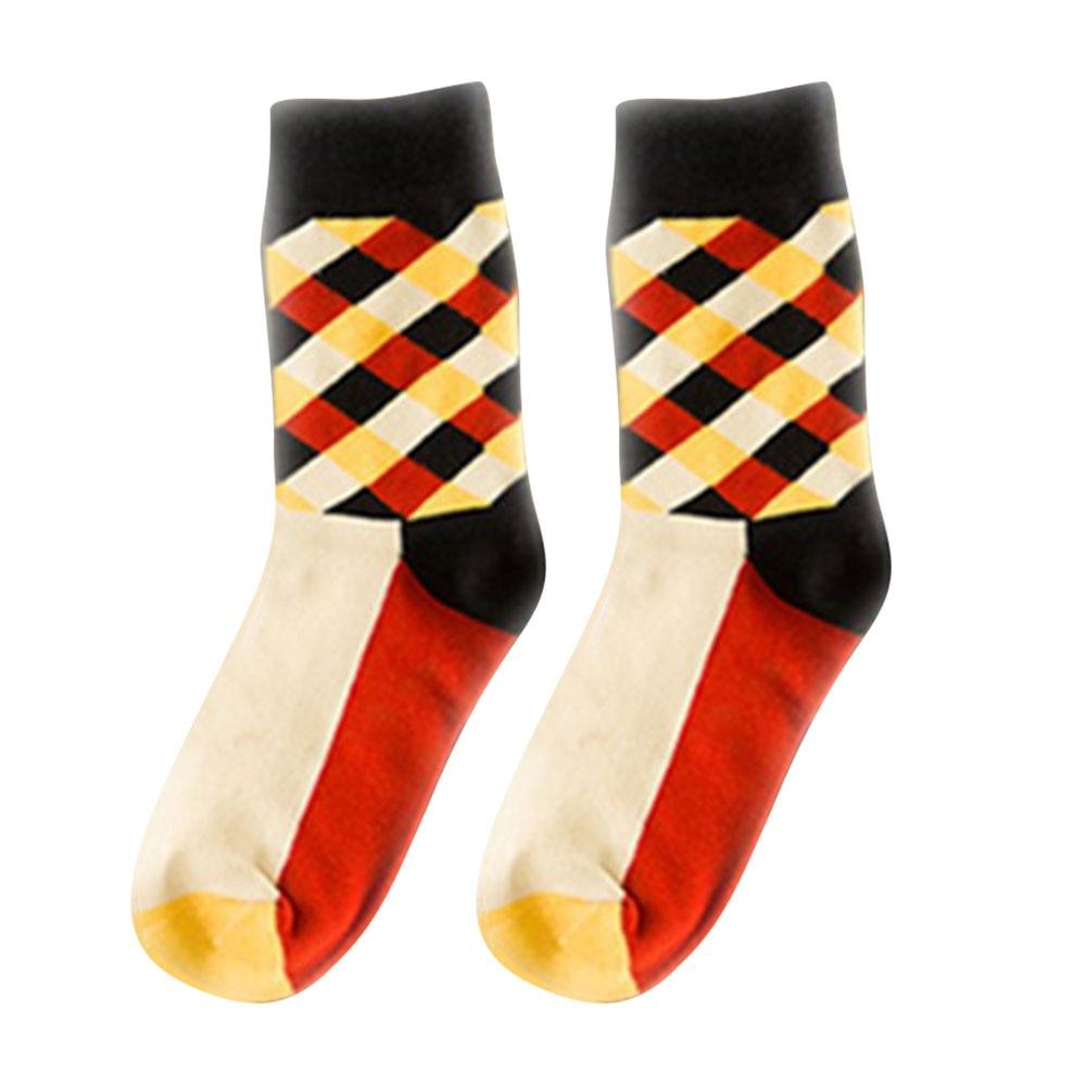 Дышащие повседневные теплые носки для женщин и девочек, удобные хлопковые носки в клетку, длинные зимние спортивные и уличные Дышащие носки - Цвет: Orange