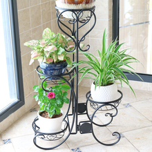 Балконные полки для цветочных горшков, многоярусные комнатные полки для гостиной, цветочные горшечные рамы, европейский стиль, трехслойная рама для ботаники