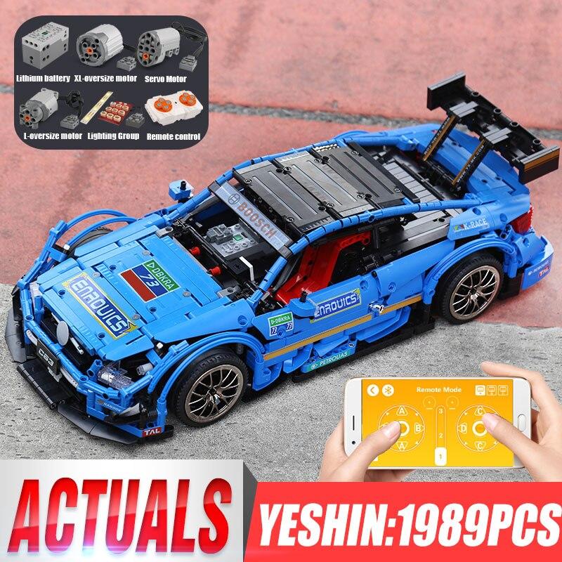 20005 DHL Technic voiture Compatible avec MOC-6687 C63 vitesse voiture ensemble briques de construction App contrôle RC voiture enfants jouets cadeau