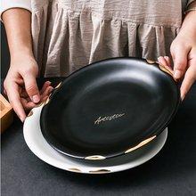 Керамическая тарелка с алфавитом из Пномпеня домашняя кухня