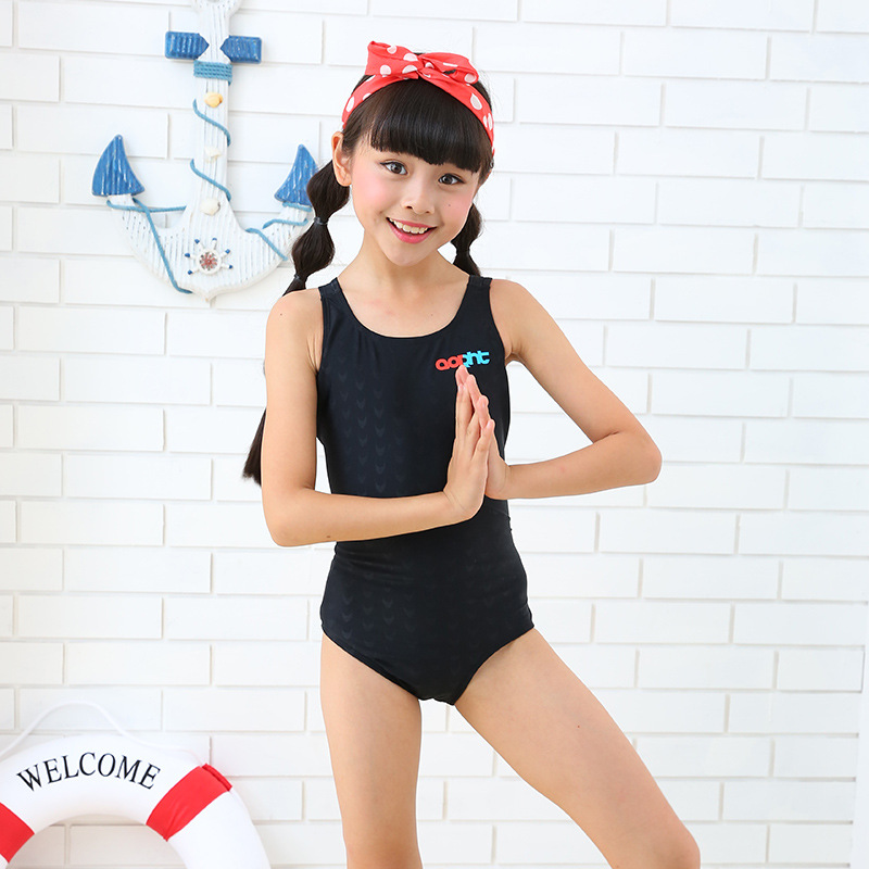 Flag Leite KID'S Swimwear Industry Swimming GIRL'S Swimsuit Students One-piece Swimwear Sun-resistant Quick Drying Clothes Girls