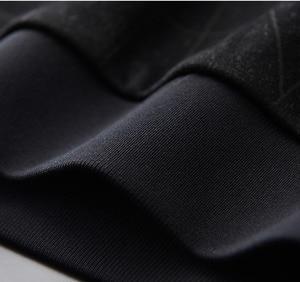 Image 4 - Minglu Black Inner Velvet Sweatshirt Men Luxury Round Collar Jacquard Winter Sweatshirt Male Plus Size 4xl Slim Fit Mens Hoodies