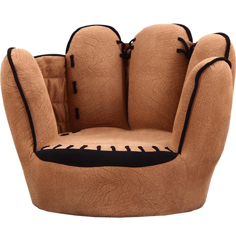 Five Fingers Kids Sofa Originality Cartoon Baby Sofa One Seat Bean Bag Dark Khaki Zitzak Multi-function Children Bedroom