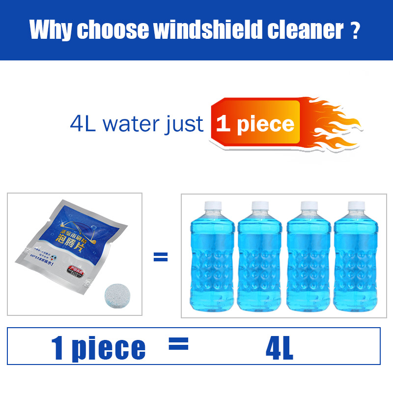 50-100pcs Auto Car Windshield Glass Wash Cleaning Concentrated Effervescent Tablets Cleaner Car Glass Cleaner Washer