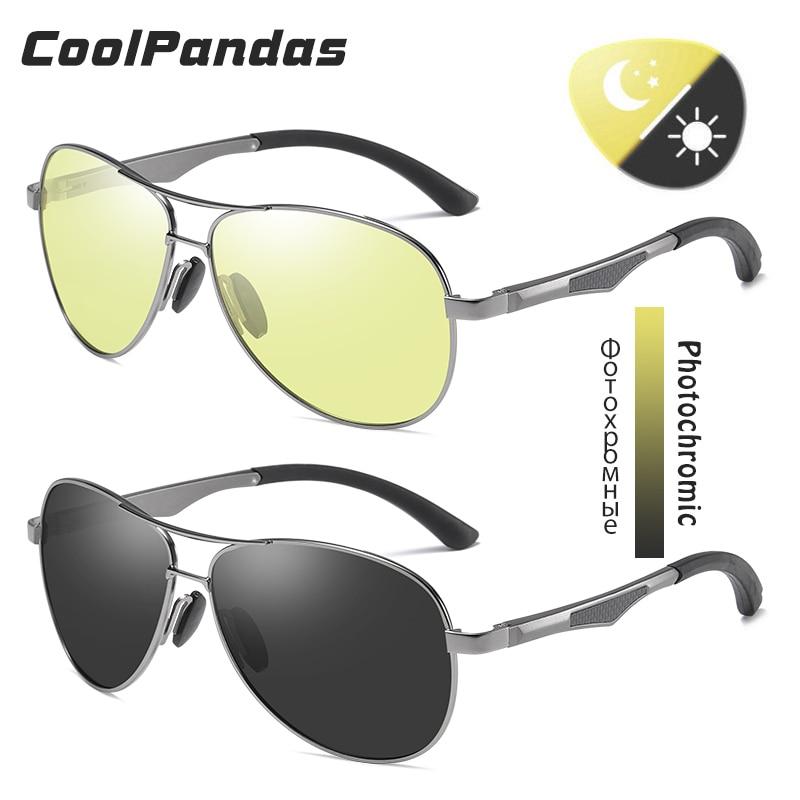 2020 Aviation Driving Photochromic Sunglasses Men Polarized Glasses Women Day Night Vision Driver Eyewear UV400 zonnebril heren 3