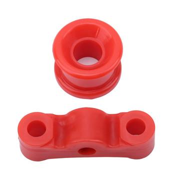 Praktyczny wysokiej jakości czerwony Shifter tuleja poliuretanowy samochód Auto Shifter dźwignia zmiany biegów zestaw tulei kołnierz na skrzynię biegów tanie i dobre opinie INSEET CN (pochodzenie) 86kg 2 5inch 2019 gear shift collars 9inch Polyurethane