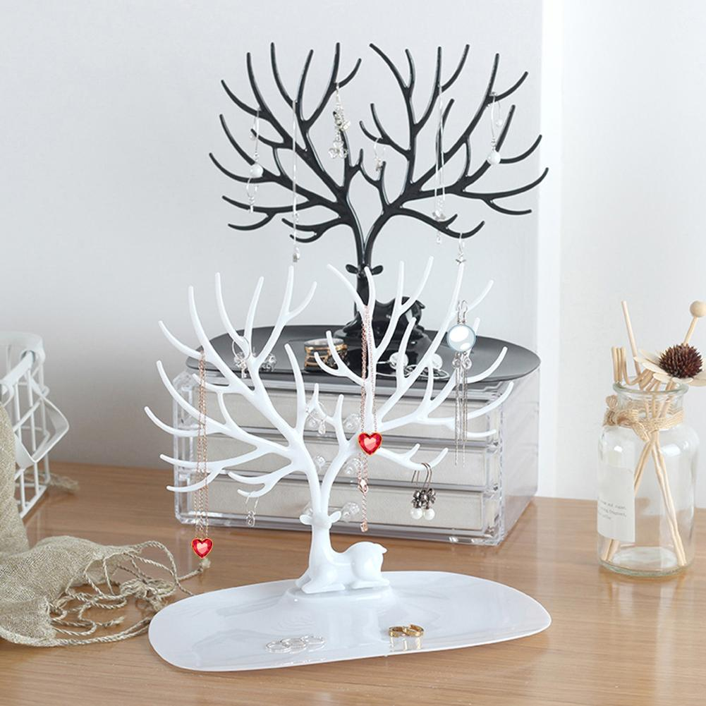 Jewelry Necklace Earrings Rings Deer Stand Display Organizer Holder Show Rack Creative Gift Tree Storage Jewelry Organizer Ring