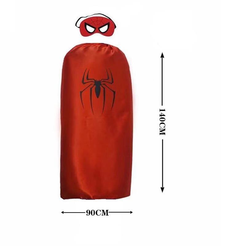 Adult Superhero Cape Mask Superman Spider  Captain America Man Woman Halloween Cosplay Costume